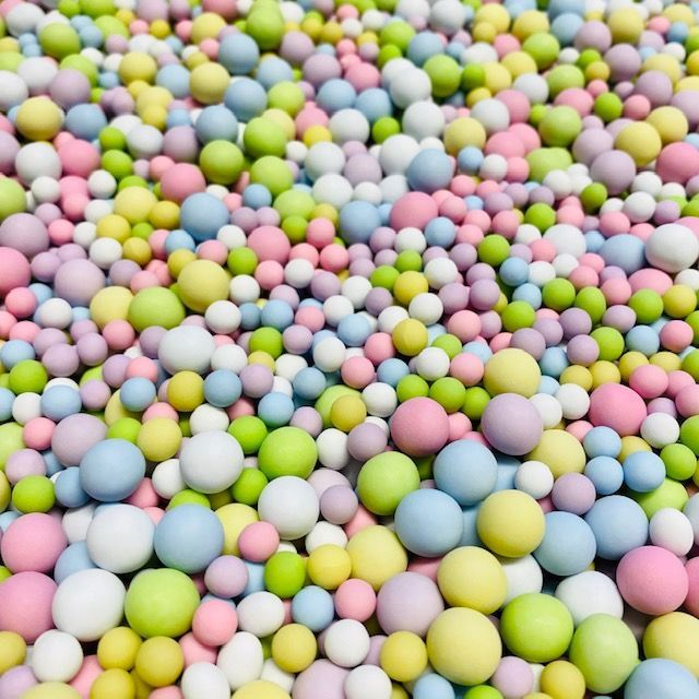 Large Sugar Pearls 6mm & 10mm - Sorbet Bubbles 70g