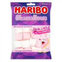 Sweet Treats - Haribo Chamallows Pink & White Share Bags 140g