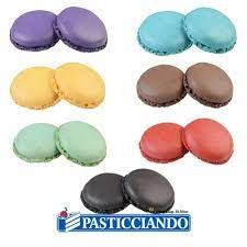 Ready to Eat and Make - Macarons in 8 colours (Pack of 24 halves to make 12