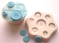 Squires Kitchen Sugarcraft Mould - Buttons x 7