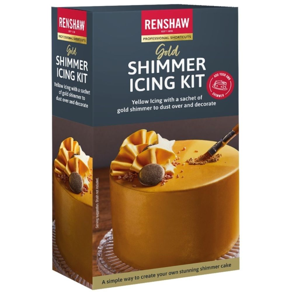 Renshaw Ready to Roll Shimmer Icing Kit 500g - GOLD