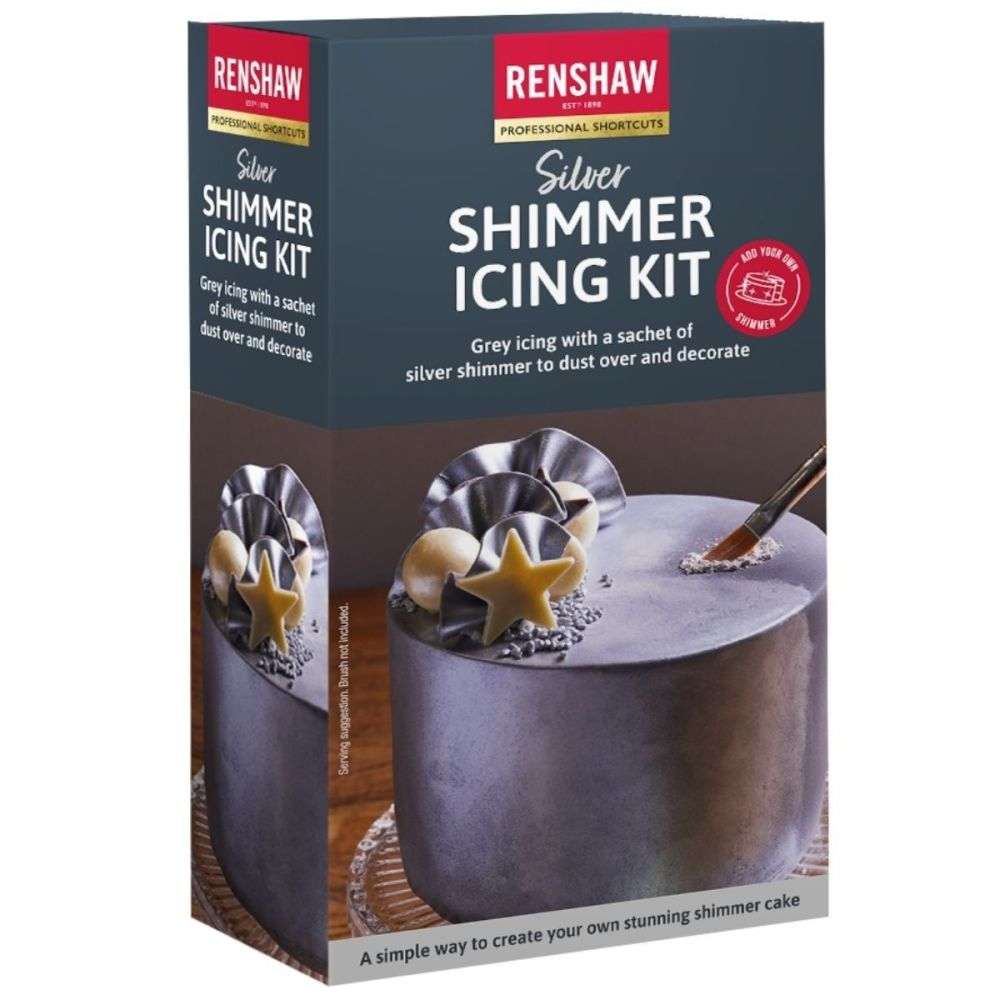 Renshaw Ready to Roll Shimmer Icing Kit 500g - SILVER