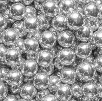 Edible 10mm Chocolate Filled Balls 80g - Metallic Shiny Silver
