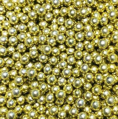 Edible Chocolate Filled Balls 80g - Metallic Shiny Gold