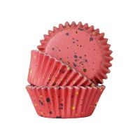 PME Foil Lined Cupcake Cases Pack of 30 - Pink with Gold Flecks