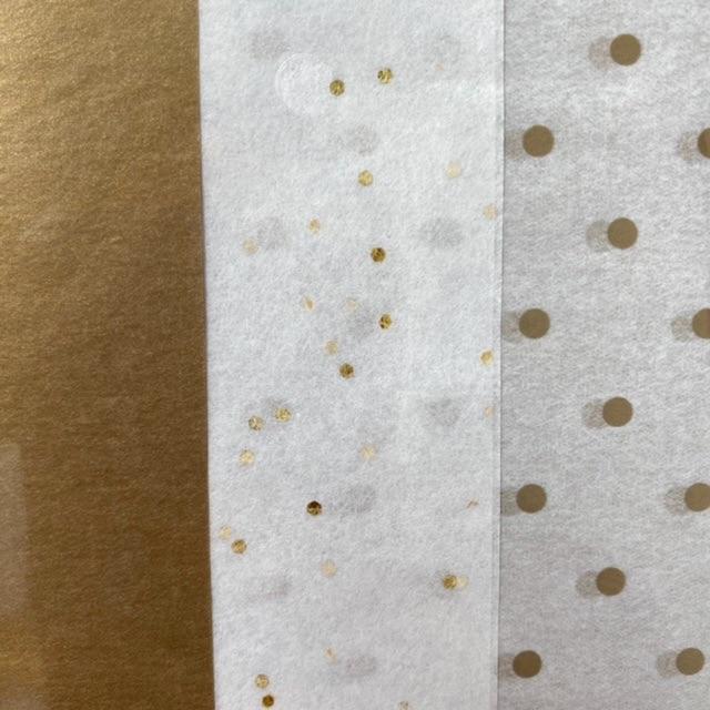 Tissue Paper Pack - Metallic Gold Assortment (6 Sheets)