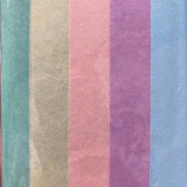 Tissue Paper Pack - Pastel Colour Assortment (10 Sheets)