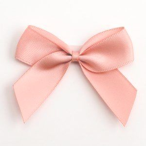 Satin Cakesicle  Bows - 5cm Self Adhesive Pack of 12 - PINK