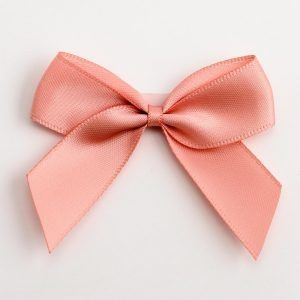 Satin Cakesicle  Bows - 5cm Self Adhesive Pack of 12 - ROSE GOLD