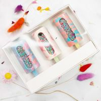 Presentation Box for Cakesicles - White Box with Clear Lid