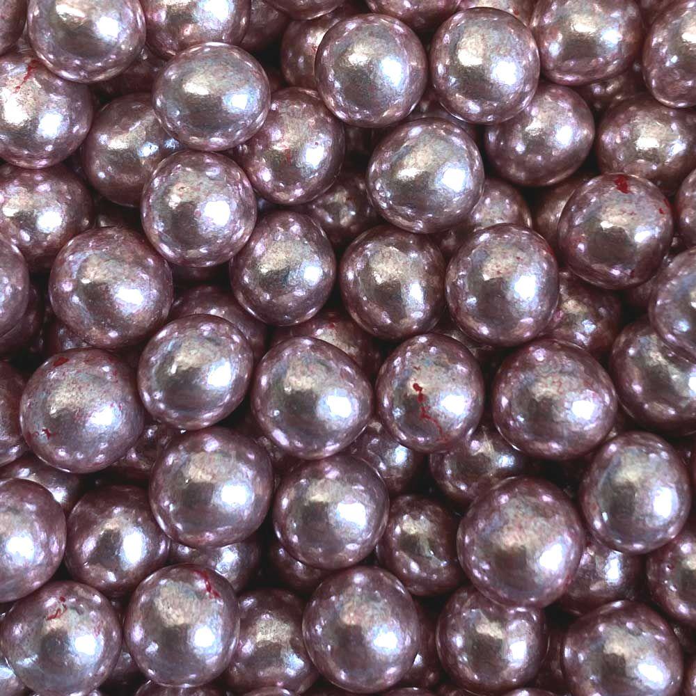 Purple Cupcakes 6mm Chocolate Filled - Metallic Rose Gold