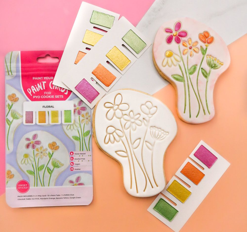 Sweet Sticks Paint Tabs for Paint Your Own - FLORAL
