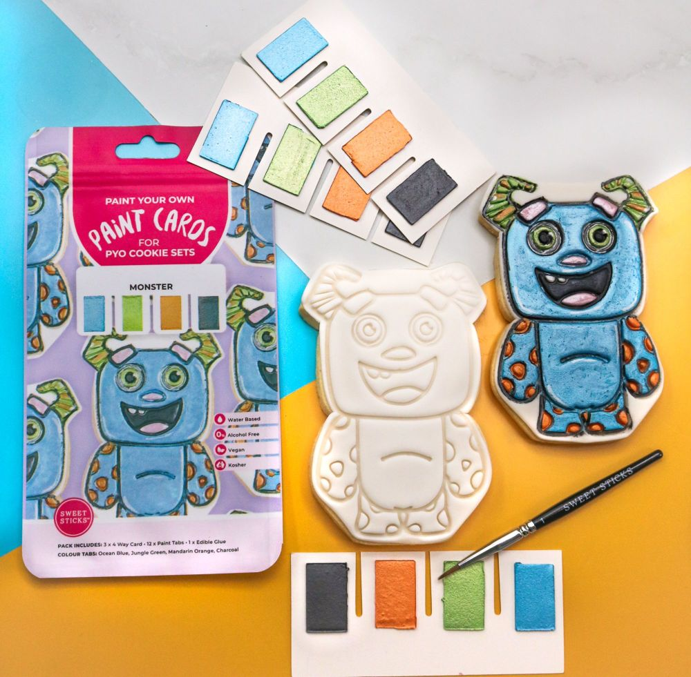 Sweet Sticks Paint Tabs for Paint Your Own - MONSTER