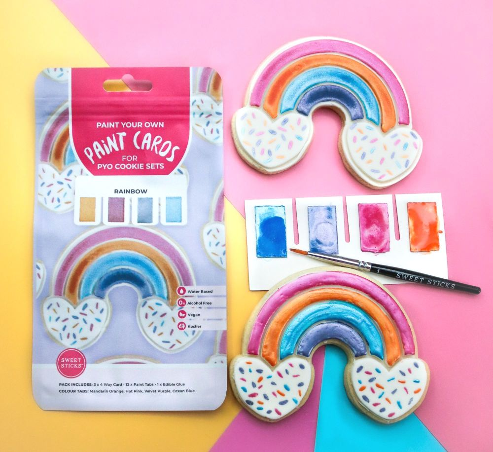 Sweet Sticks Paint Tabs for Paint Your Own - RAINBOW