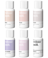 6 Pack  Nudes - Colour Mill 20ml  - Nude, Blush, Taupe, Lavender, Lilac & White