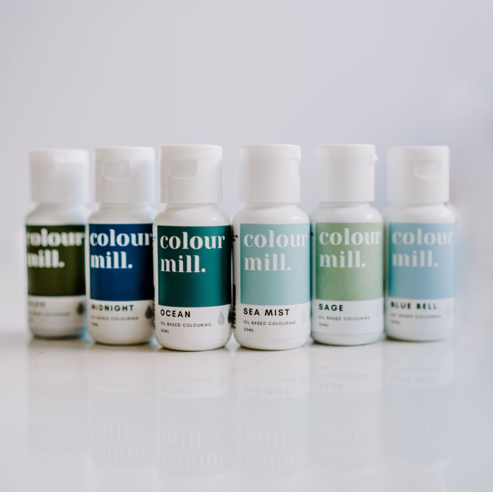 6 Pack  Sea Collection - Colour Mill 20ml  - Olive, Sage, Sea Mist, Blue Be