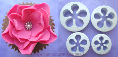 5 Petal Cutter for Roses, Poppies, Peonies & Blossom