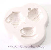 Cupcake Mould - Vintage Tea Party Collection