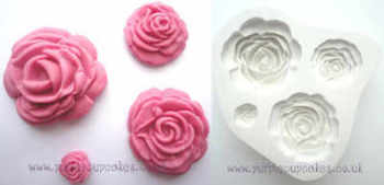 Cupcake Mould - Multi Rose x 4