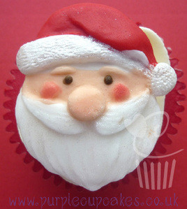 5d9a8c2d1a5 Purple Cupakes - Cupcake Moulds by FPC Sugarcraft  Father Christmas Santa