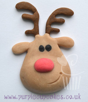 Cupcake Mould - Christmas Reindeer Head