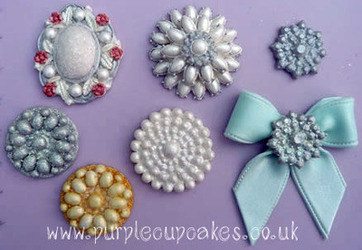Cupcake Mould - Brooch x 5