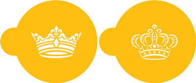 Royal Crowns Stencils - Set of 2
