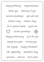 impressit™ Cake Stamps:  GREETINGS & PHRASES