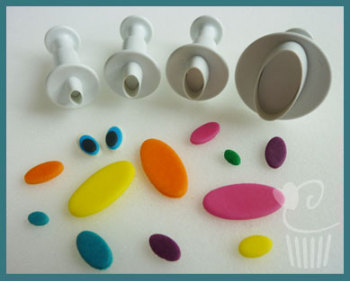 Oval Plunger Cutters Set of 4