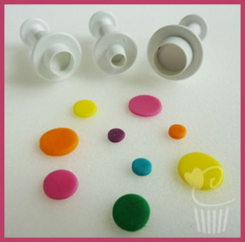 Round Circle Plunger Cutters Set of 3