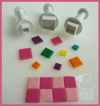 Square Plunger Cutters Set of 3