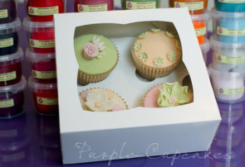 Cupcake Box - 4 Cupcakes (x 4 boxes)