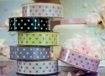 Ribbon: Spotty Grosgrain - 25mm x 5mtrs