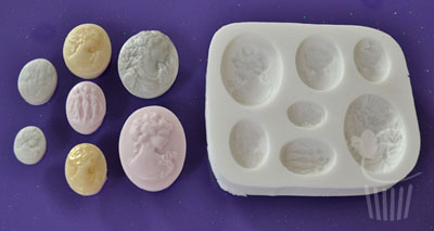 Cupcake Mould - Cameo Ladies
