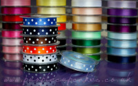 Polka Dot Ribbon 15mm wide x 5mtrs:  Cornflower Blue