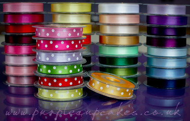 Polka Dot Ribbon 15mm wide x 5mtrs:  Gold