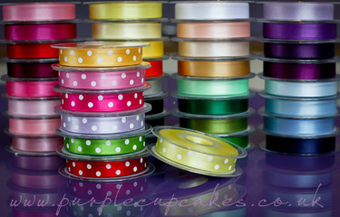 Polka Dot Ribbon 15mm wide x 5mtrs:  Lemon