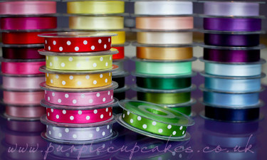 Polka Dot Ribbon 15mm wide x 5mtrs:  Meadow Green