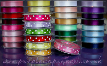Polka Dot Ribbon 15mm wide x 5mtrs:  Pink