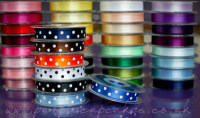 Polka Dot Ribbon 15mm wide x 5mtrs:  Royal Blue