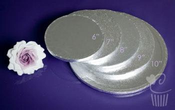 """Cake Drum - 14"""" Round Silver"""