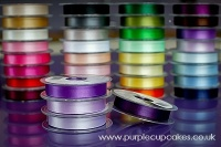 Satin Ribbon 15mm x 5mtrs:  Blackberry