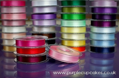 Satin Ribbon 15mm x 5mtrs:  Dark Rose