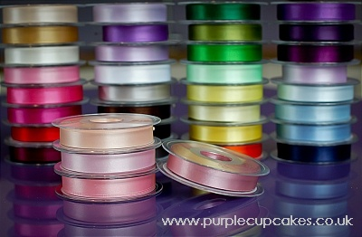 Satin Ribbon 15mm x 5mtrs:  Dusky Pink
