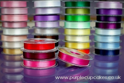 Satin Ribbon 15mm x 5mtrs:  Fuschia Pink