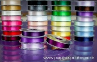 Satin Ribbon 15mm x 5mtrs:  Plum