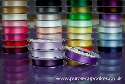 Satin Ribbon 15mm x 5mtrs:  Purple
