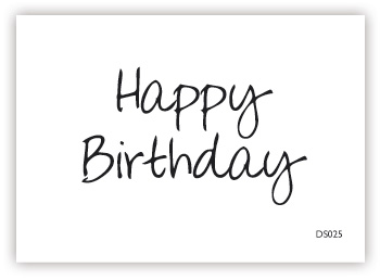 impressit™ Happy Birthday Handwriting
