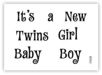 impressit™ It's a Boy Girl Twins