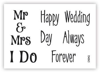impressit™ Mr & Mrs  Wedding  Forever
